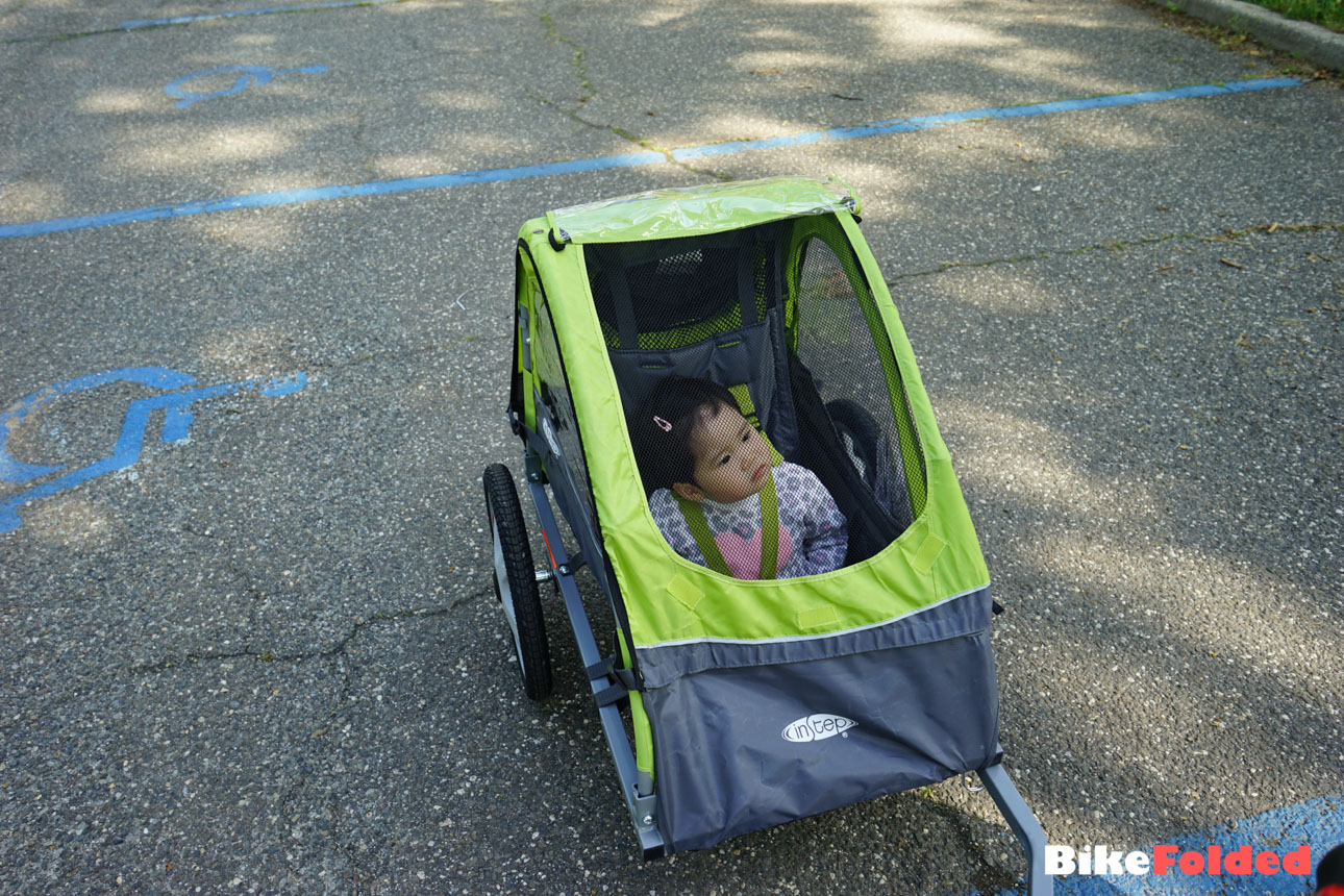 Instep Sync Single Bicycle Trailer Review With A Folding Bike