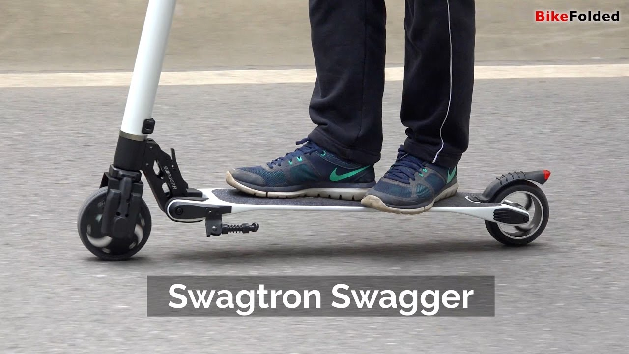 Swagtron Swagger Folding Electric Scooter Review The World S Lightest